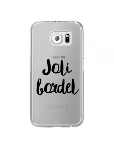 Coque Joli Bordel Transparente pour Samsung Galaxy S6 Edge - Maryline Cazenave