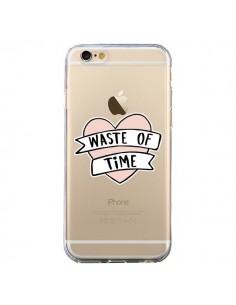 Coque Waste Of Time Transparente pour iPhone 6 et 6S - Maryline Cazenave
