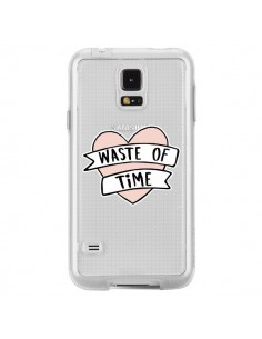 Coque Waste Of Time Transparente pour Samsung Galaxy S5 - Maryline Cazenave