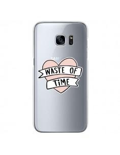 Coque Waste Of Time Transparente pour Samsung Galaxy S7 - Maryline Cazenave