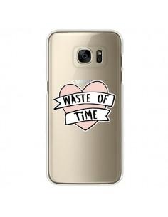 Coque Waste Of Time Transparente pour Samsung Galaxy S7 Edge - Maryline Cazenave