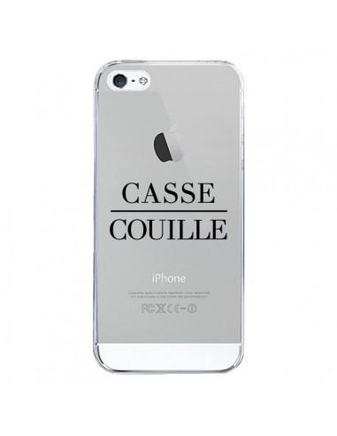 Coque iPhone 5/5S et SE Casse Couille Transparente - Maryline Cazenave