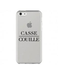 Coque iPhone 5C Casse Couille Transparente - Maryline Cazenave