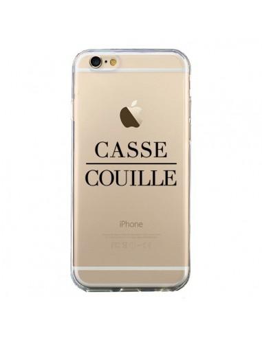 Coque Casse Couille Transparente pour iPhone 6 et 6S - Maryline Cazenave