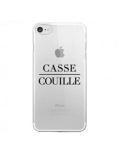 Coque Casse Couille Transparente pour iPhone 7 - Maryline Cazenave