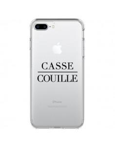 Coque iPhone 7 Plus et 8 Plus Casse Couille Transparente - Maryline Cazenave