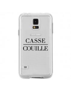 Coque Casse Couille Transparente pour Samsung Galaxy S5 - Maryline Cazenave