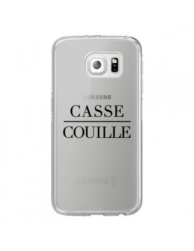 Coque Casse Couille Transparente pour Samsung Galaxy S6 Edge - Maryline Cazenave