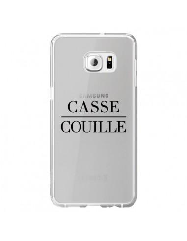 Coque Casse Couille Transparente pour Samsung Galaxy S6 Edge Plus - Maryline Cazenave