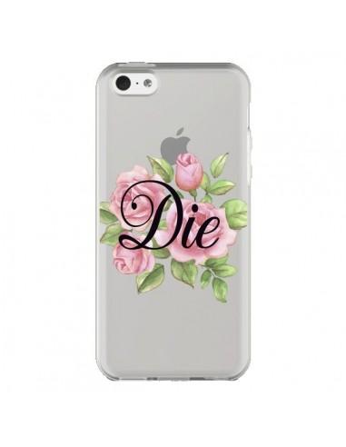 Coque Die Fleurs Transparente pour iPhone 5C - Maryline Cazenave