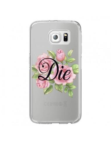 Coque Die Fleurs Transparente pour Samsung Galaxy S6 Edge - Maryline Cazenave
