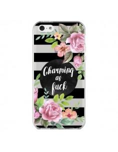Coque iPhone 5C Charming as Fuck Fleurs Transparente - Maryline Cazenave