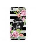Coque iPhone 7 et 8 Charming as Fuck Fleurs Transparente - Maryline Cazenave