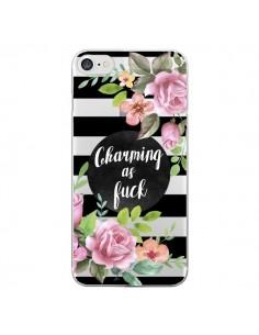 Coque Charming as Fuck Fleurs Transparente pour iPhone 7 et 8 - Maryline Cazenave