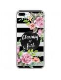 Coque Charming as Fuck Fleurs Transparente pour iPhone 7 Plus et 8 Plus - Maryline Cazenave