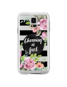 Coque Charming as Fuck Fleurs Transparente pour Samsung Galaxy S5 - Maryline Cazenave