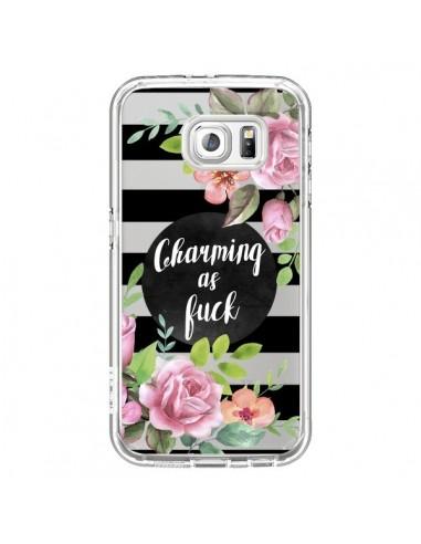 Coque Charming as Fuck Fleurs Transparente pour Samsung Galaxy S6 - Maryline Cazenave