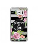 Coque Charming as Fuck Fleurs Transparente pour Samsung Galaxy S6 Edge - Maryline Cazenave