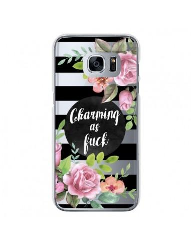 Coque Charming as Fuck Fleurs Transparente pour Samsung Galaxy S7 - Maryline Cazenave