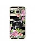 Coque Charming as Fuck Fleurs Transparente pour Samsung Galaxy S7 Edge - Maryline Cazenave