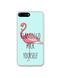 Coque Flamingo Fuck Yourself pour iPhone 7 Plus et 8 Plus - Maryline Cazenave