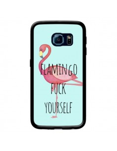 Coque Flamingo Fuck Yourself pour Samsung Galaxy S6 Edge - Maryline Cazenave
