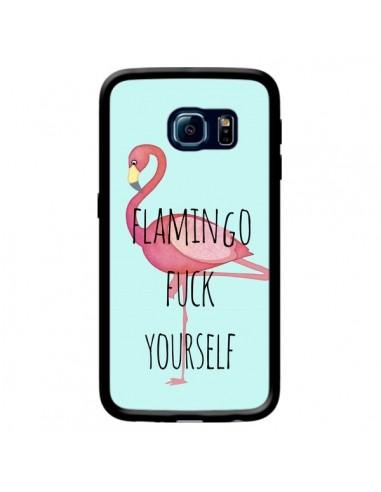 Coque Flamingo Fuck Yourself pour Samsung Galaxy S6 Edge - Maryline Cazenave