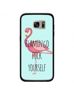 Coque Flamingo Fuck Yourself pour Samsung Galaxy S7 Edge - Maryline Cazenave