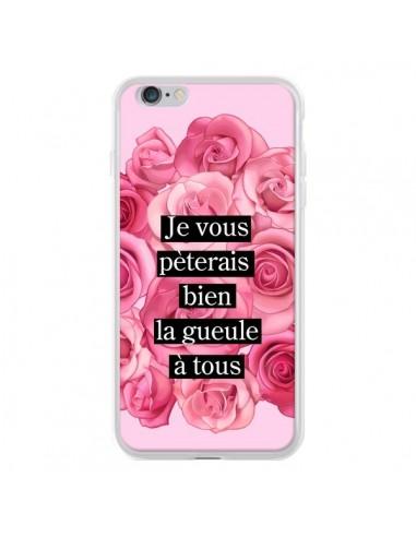 Coque iPhone 6 Plus et 6S Plus Je vous pèterais Fleurs - Maryline Cazenave