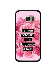 Coque Je vous pèterais Fleurs pour Samsung Galaxy S7 Edge - Maryline Cazenave