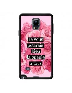 Coque Je vous pèterais Fleurs pour Samsung Galaxy Note 4 - Maryline Cazenave