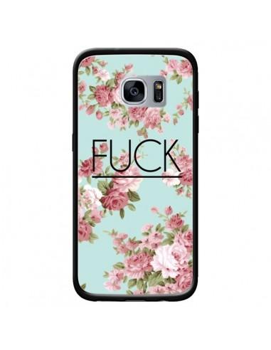 Coque Fuck Fleurs pour Samsung Galaxy S7 - Maryline Cazenave