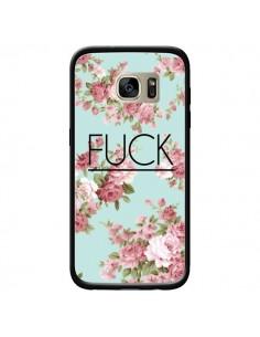 Coque Fuck Fleurs pour Samsung Galaxy S7 Edge - Maryline Cazenave