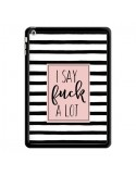 Coque Say Fuck A Lot Bandes pour iPad Air - Maryline Cazenave