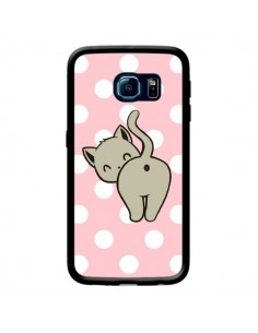 Coque Chat Chaton Pois pour Samsung Galaxy S6 Edge - Maryline Cazenave