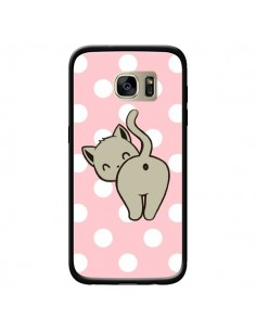 Coque Chat Chaton Pois pour Samsung Galaxy S7 Edge - Maryline Cazenave