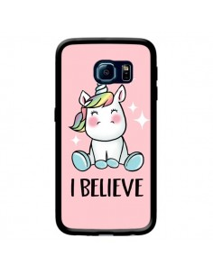 Coque Licorne I Believe pour Samsung Galaxy S6 Edge - Maryline Cazenave