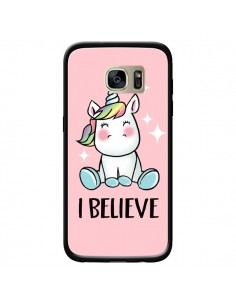 Coque Licorne I Believe pour Samsung Galaxy S7 Edge - Maryline Cazenave