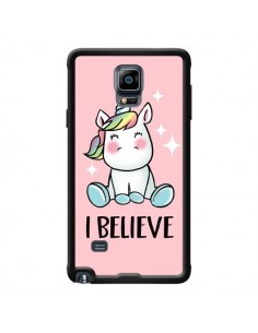 Coque Licorne I Believe pour Samsung Galaxy Note 4 - Maryline Cazenave