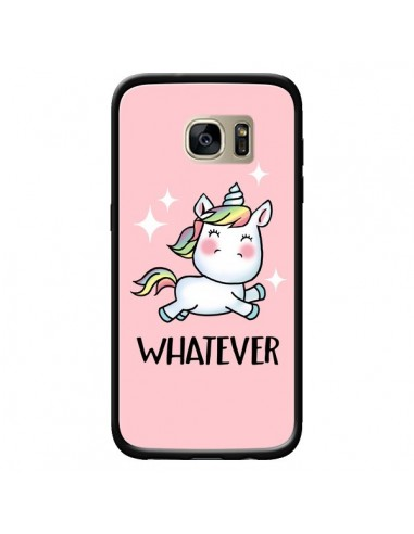 Coque Licorne Whatever pour Samsung Galaxy S7 Edge - Maryline Cazenave