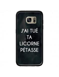 Coque J'ai tué ta Licorne Pétasse pour Samsung Galaxy S7 Edge - Maryline Cazenave