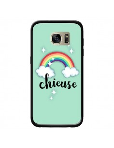 Coque Chieuse Arc en Ciel pour Samsung Galaxy S7 Edge - Maryline Cazenave
