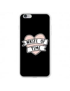Coque Waste of Time Coeur pour iPhone 6 Plus et 6S Plus - Maryline Cazenave