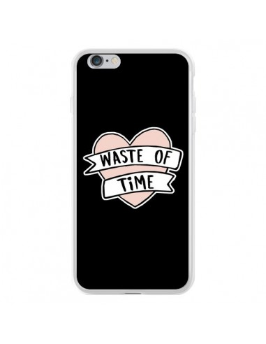 Coque iPhone 6 Plus et 6S Plus Waste of Time Coeur - Maryline Cazenave