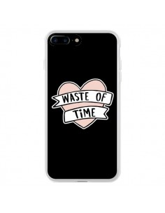 Coque Waste of Time Coeur pour iPhone 7 Plus - Maryline Cazenave
