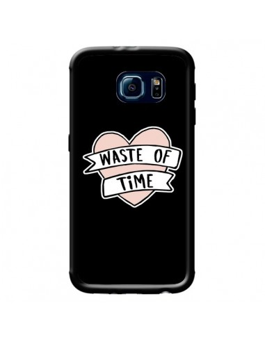 Coque Waste of Time Coeur pour Samsung Galaxy S6 - Maryline Cazenave