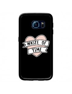 Coque Waste of Time Coeur pour Samsung Galaxy S6 Edge - Maryline Cazenave