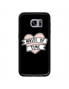 Coque Waste of Time Coeur pour Samsung Galaxy S7 - Maryline Cazenave