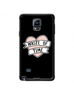 Coque Waste of Time Coeur pour Samsung Galaxy Note 4 - Maryline Cazenave