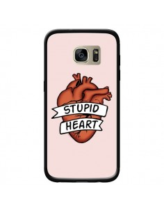 Coque Stupid Heart Coeur pour Samsung Galaxy S7 Edge - Maryline Cazenave